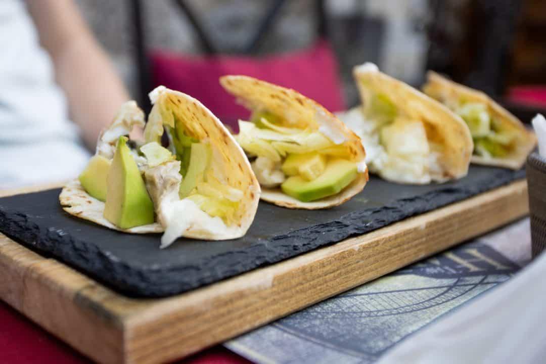 Fish tacos at The Harbour Pub restaurant in Kotor Montenegro