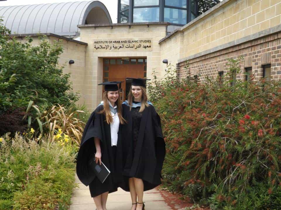 Graduating from Exeter University School of Arab and Islamic Studies