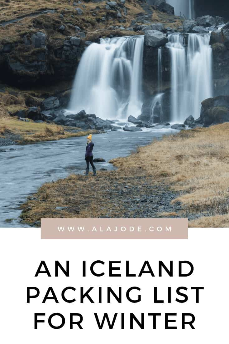 ICELAND PACKING LIST WINTER