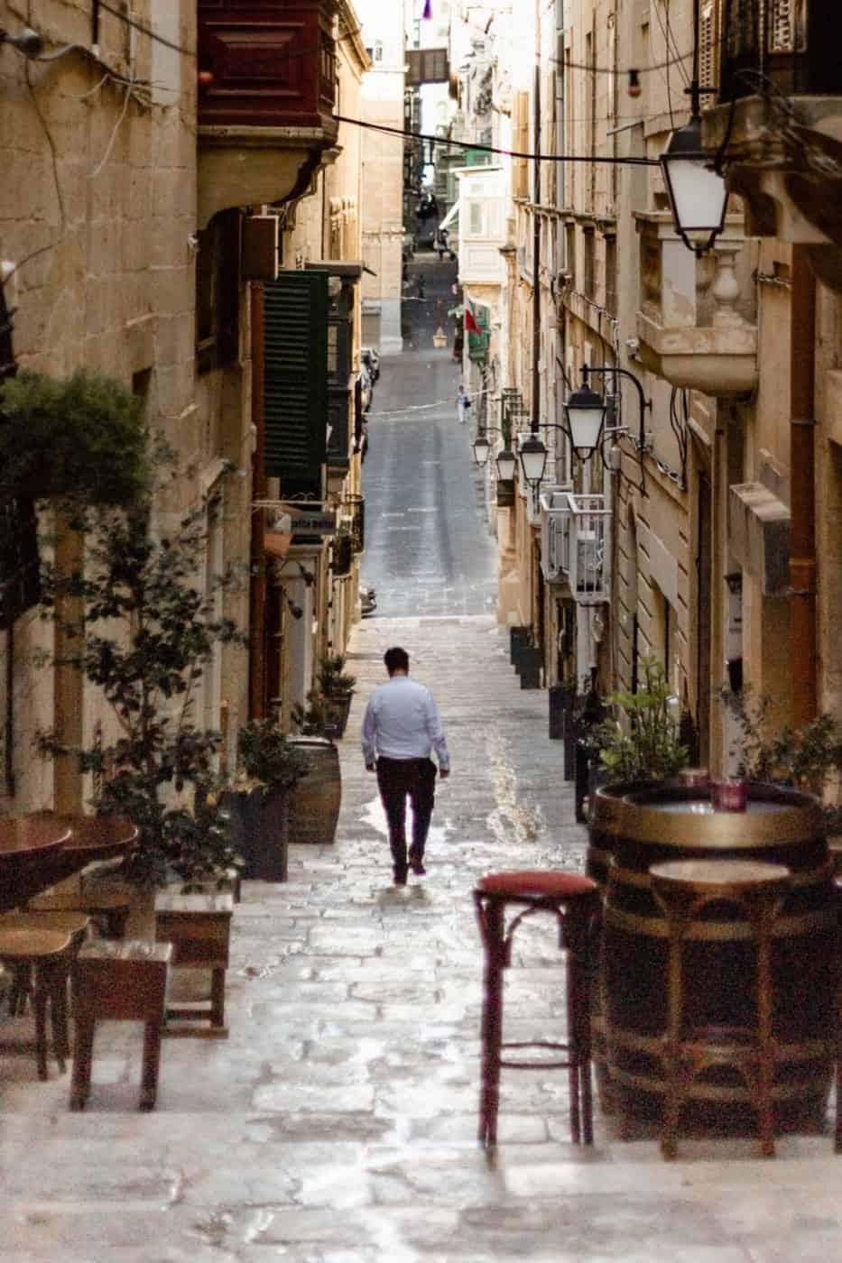 A street in Valletta Malta