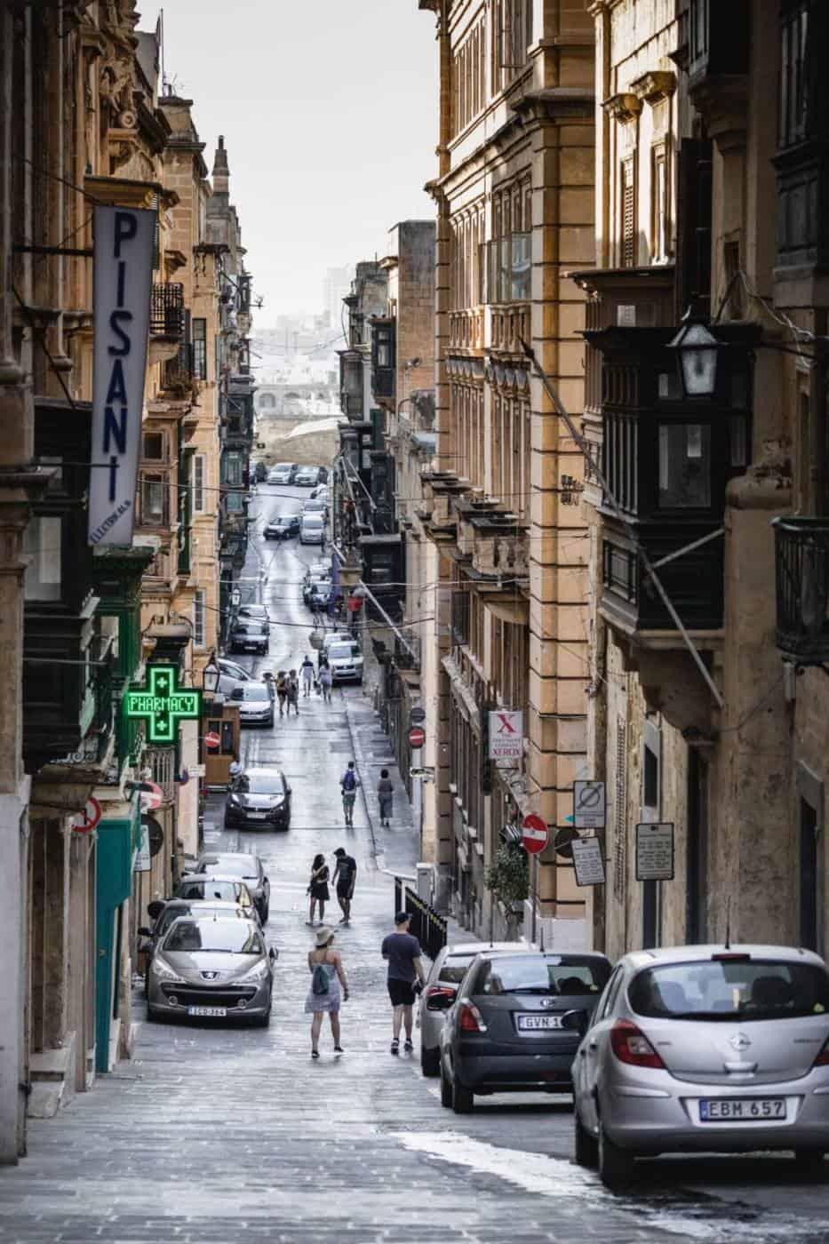 Streets of Valletta Malta