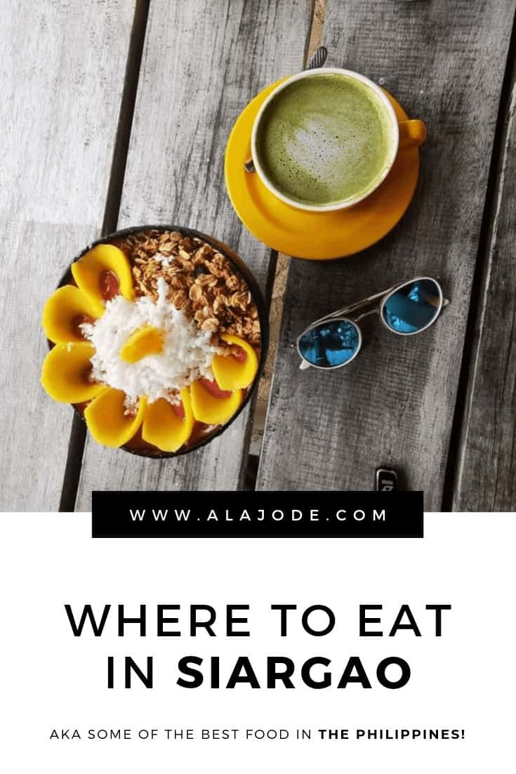 Where to eat in Siargao Philippines