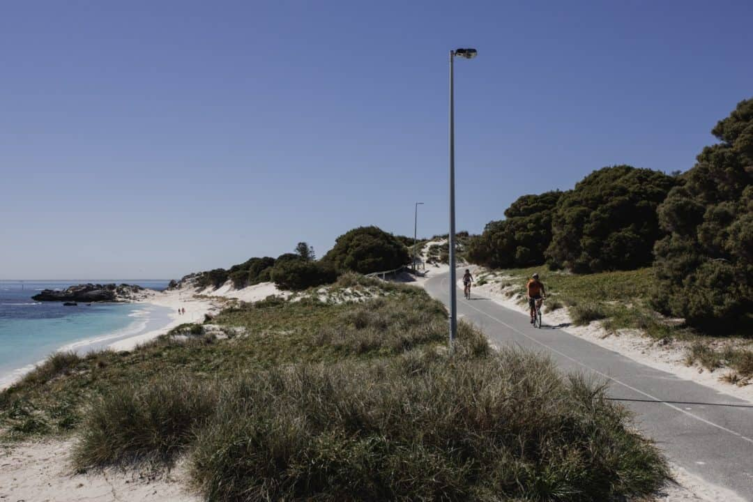 Cycling around Rottnest Island