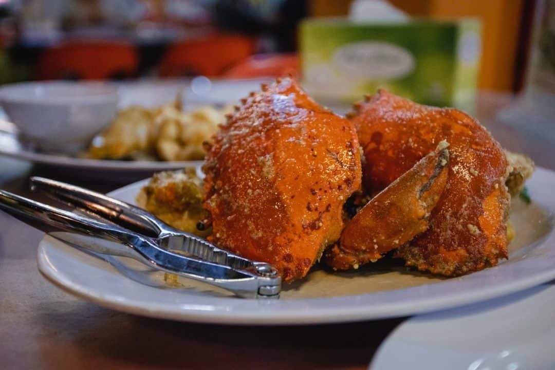 Fresh crab at Welcome seafood restaurant in Kota Kinabalu
