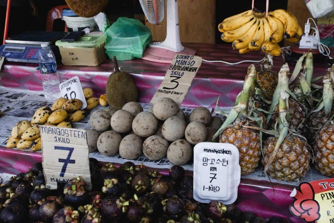 Fruit for sale at a Kota Kinabalu market