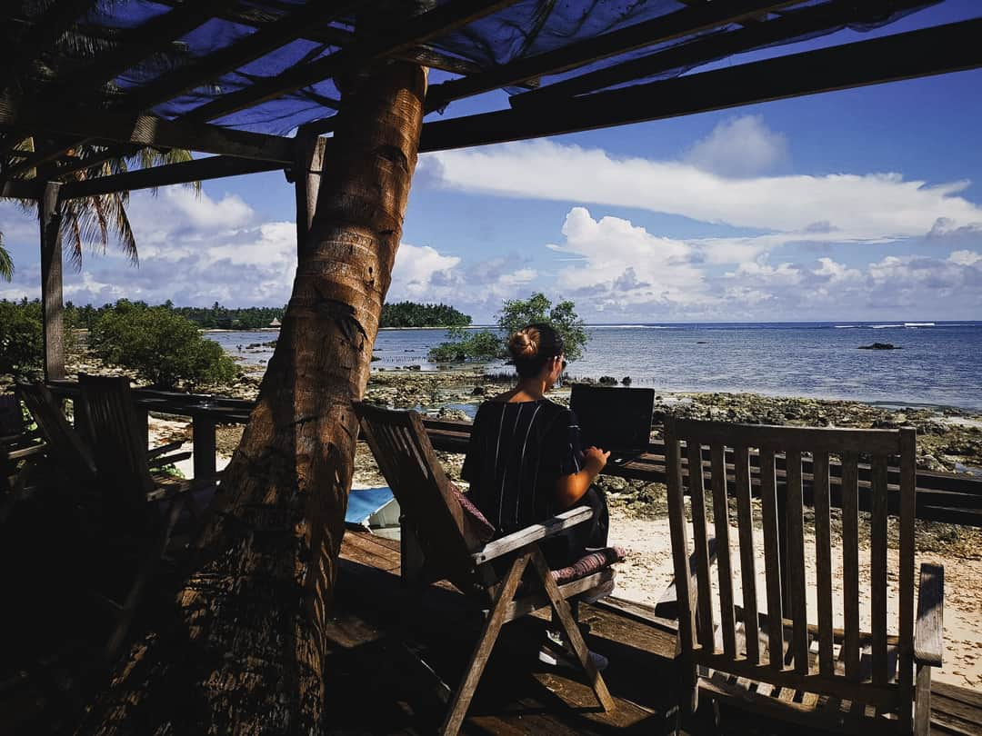 Working remotely on Siargao Island in the Philippines