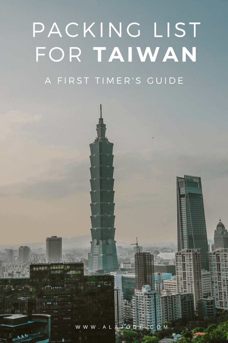 PACKING LIST FOR TAIWAN