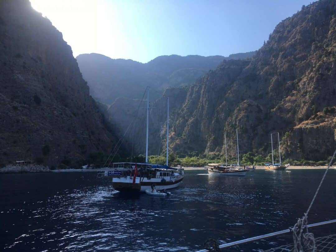 Butterfly Valley on a gulet cruise holiday in Turkey