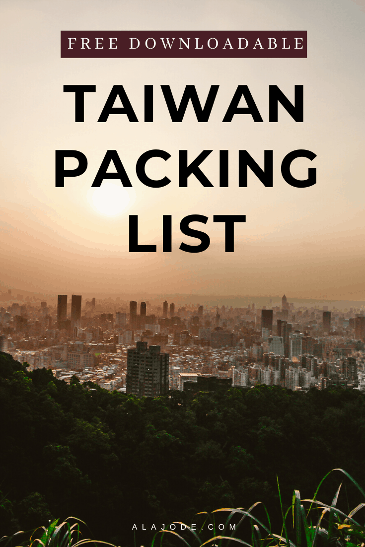 free downloadable taiwan packing list