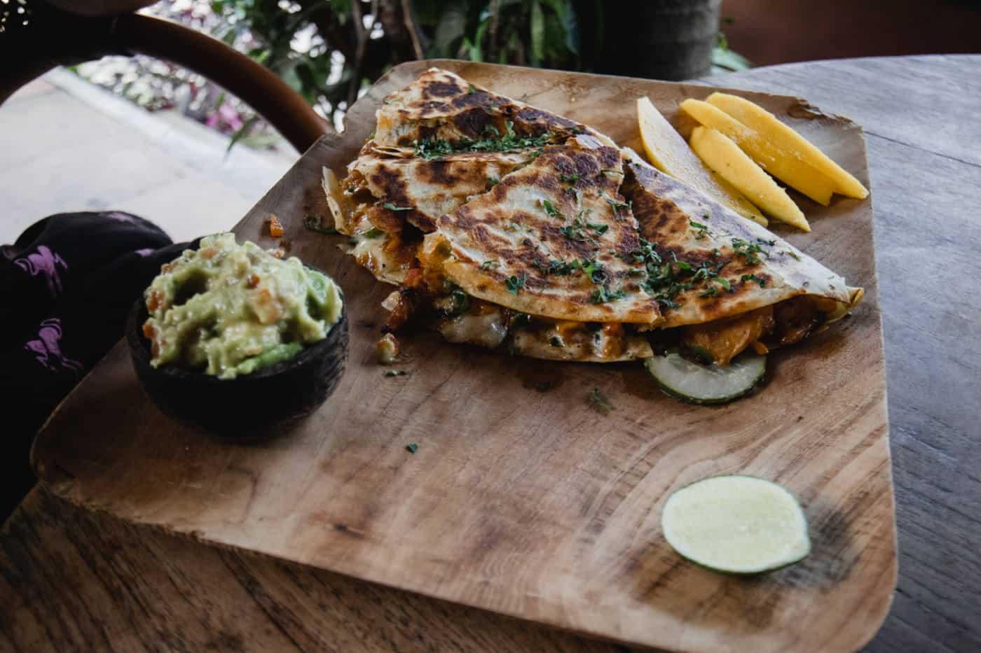 Quesadilla at Vespa Cafe in Ubud Bali Indonesia