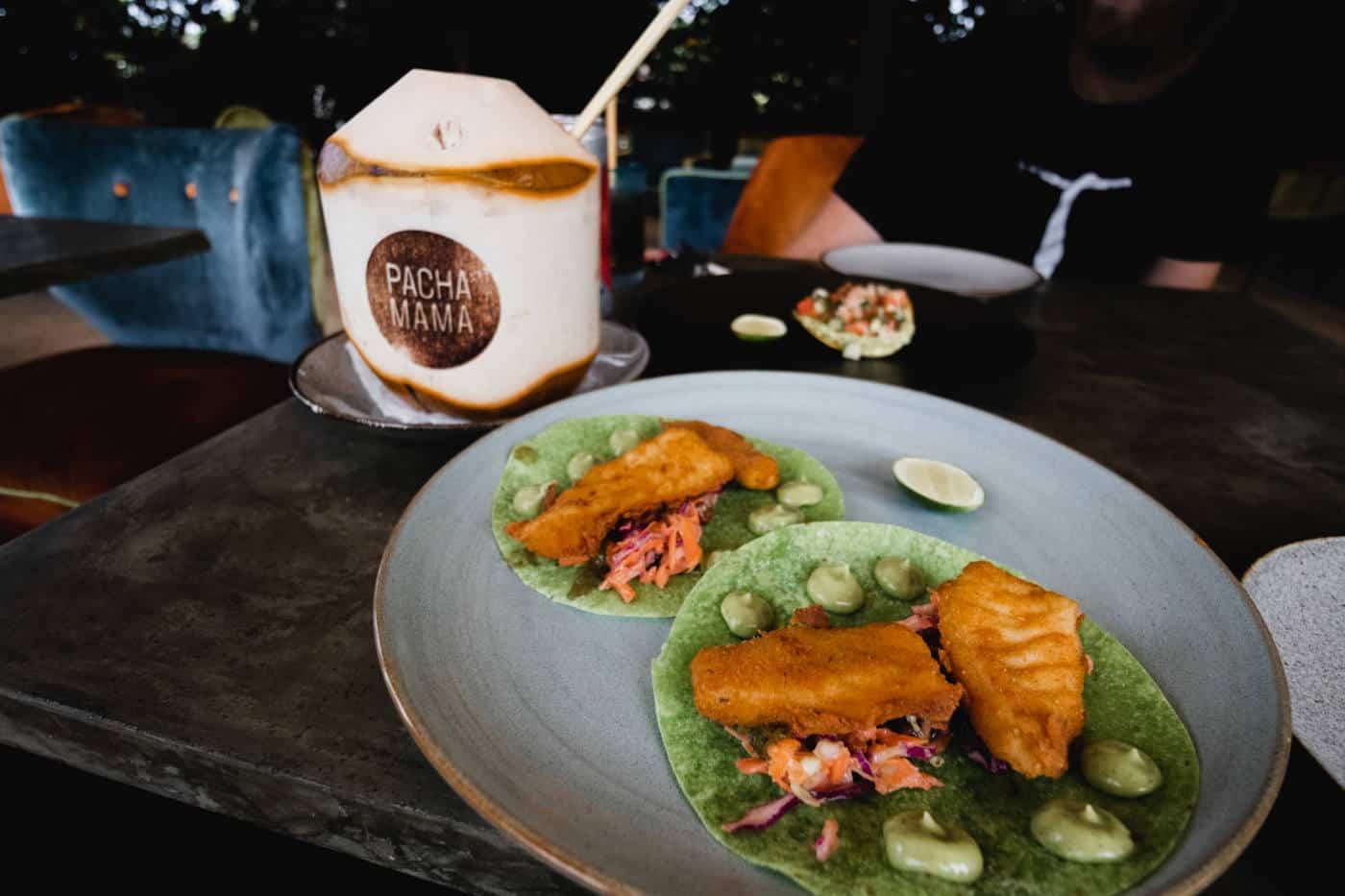Fish Tacos at Pacha Mamma in Ubud Bali