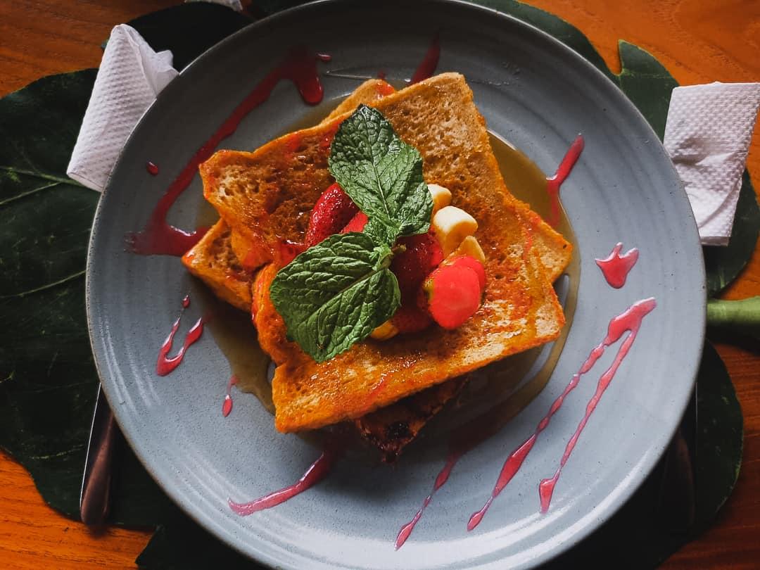 french toast at ila kitchen in Ubud Bali