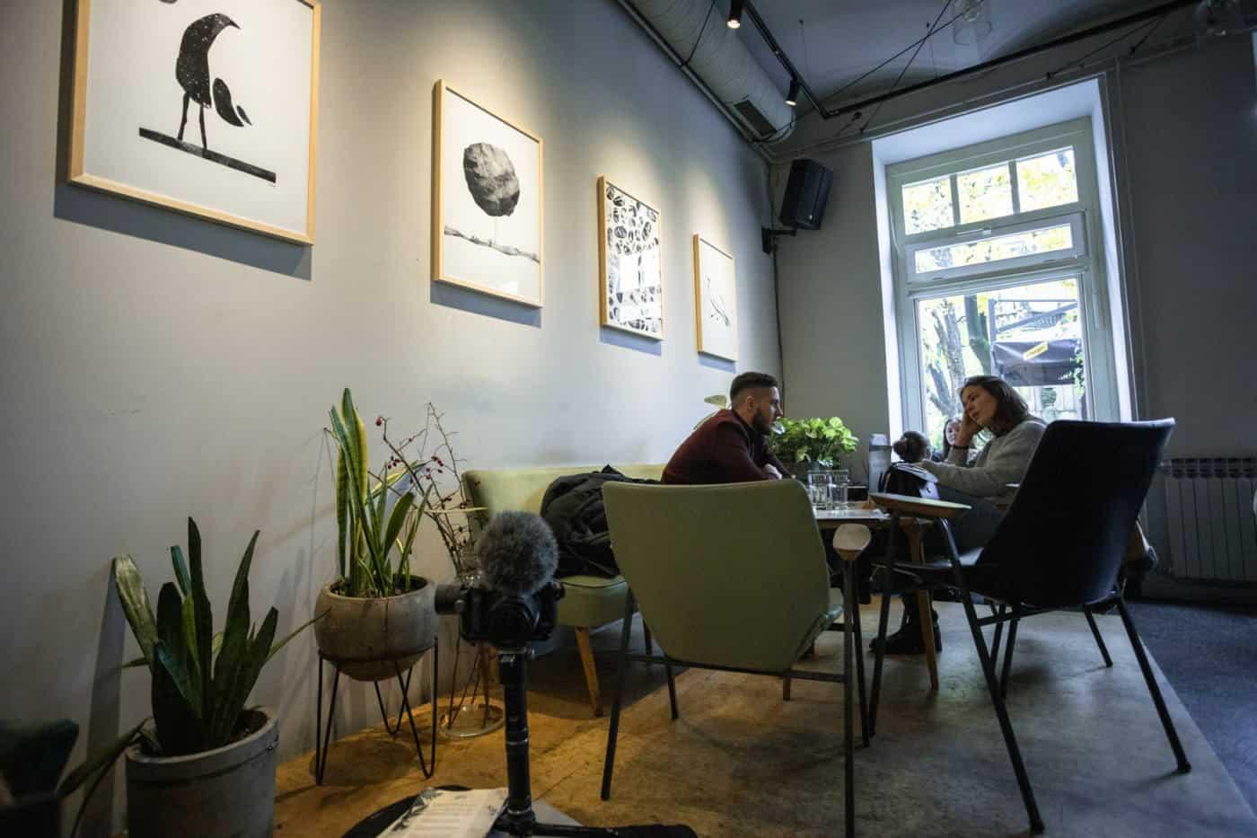 Botanicar cafe in Zagreb Croatia
