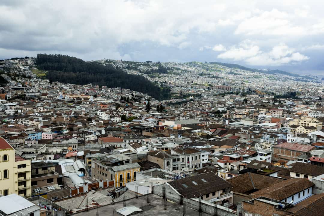 A view over old town Quito