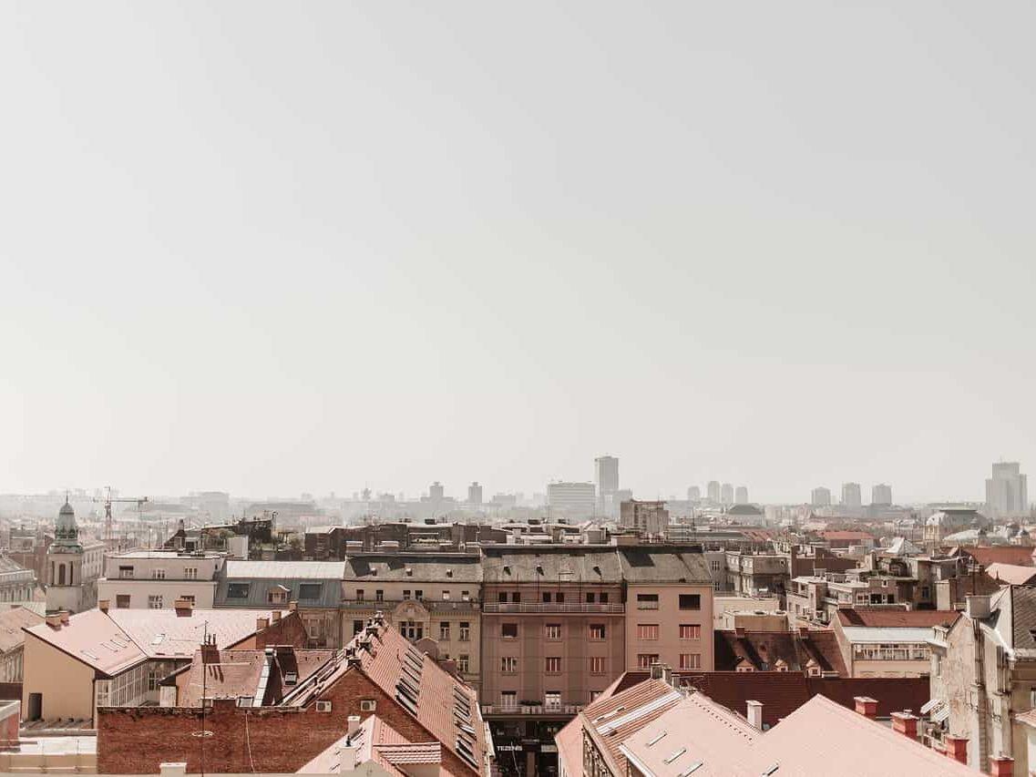 Zagreb city skyline in Croatia