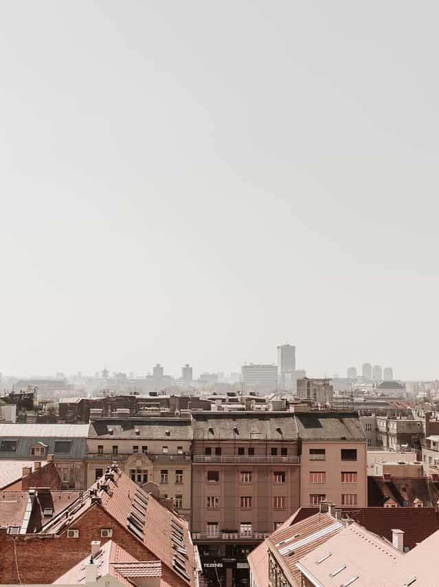 Zagreb city skyline in Croatia