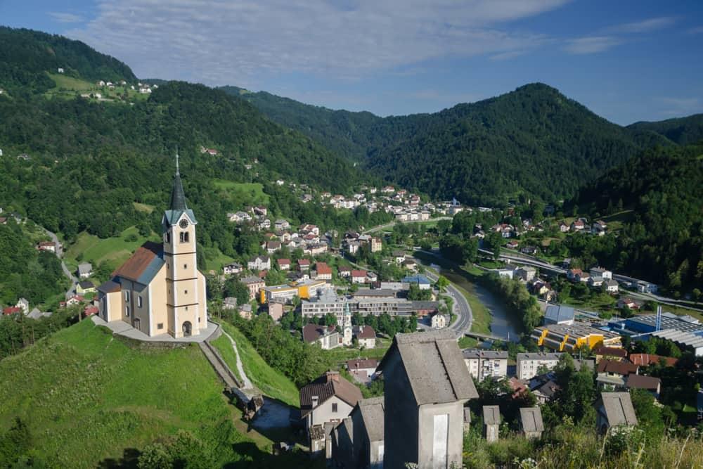 Idrija town in Slovenia