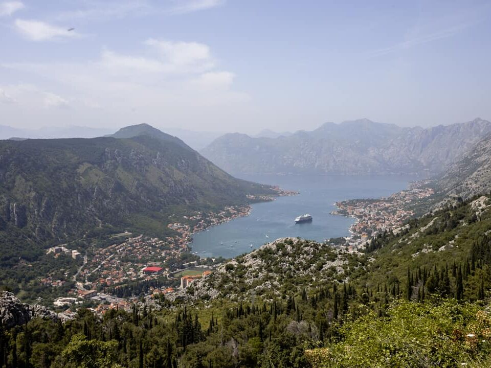 The Bay of Kotor with a cruise ship