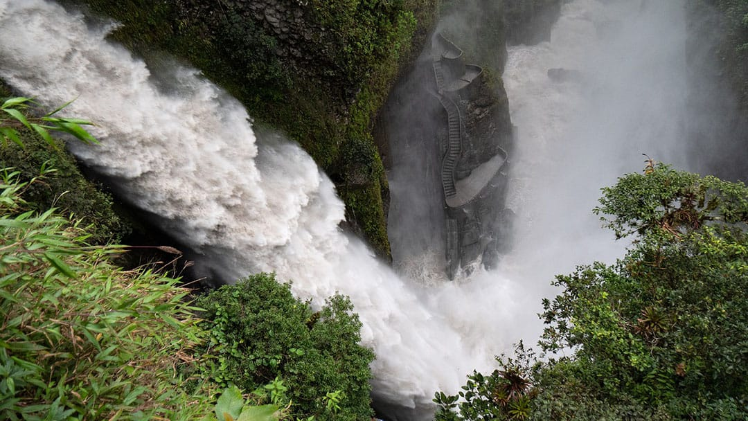 Waterfalls in Banos, Ecuador