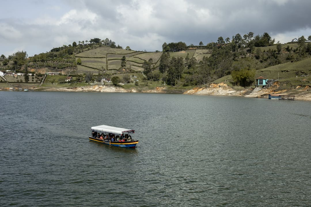 A boat on Lake Guatapé Colombia