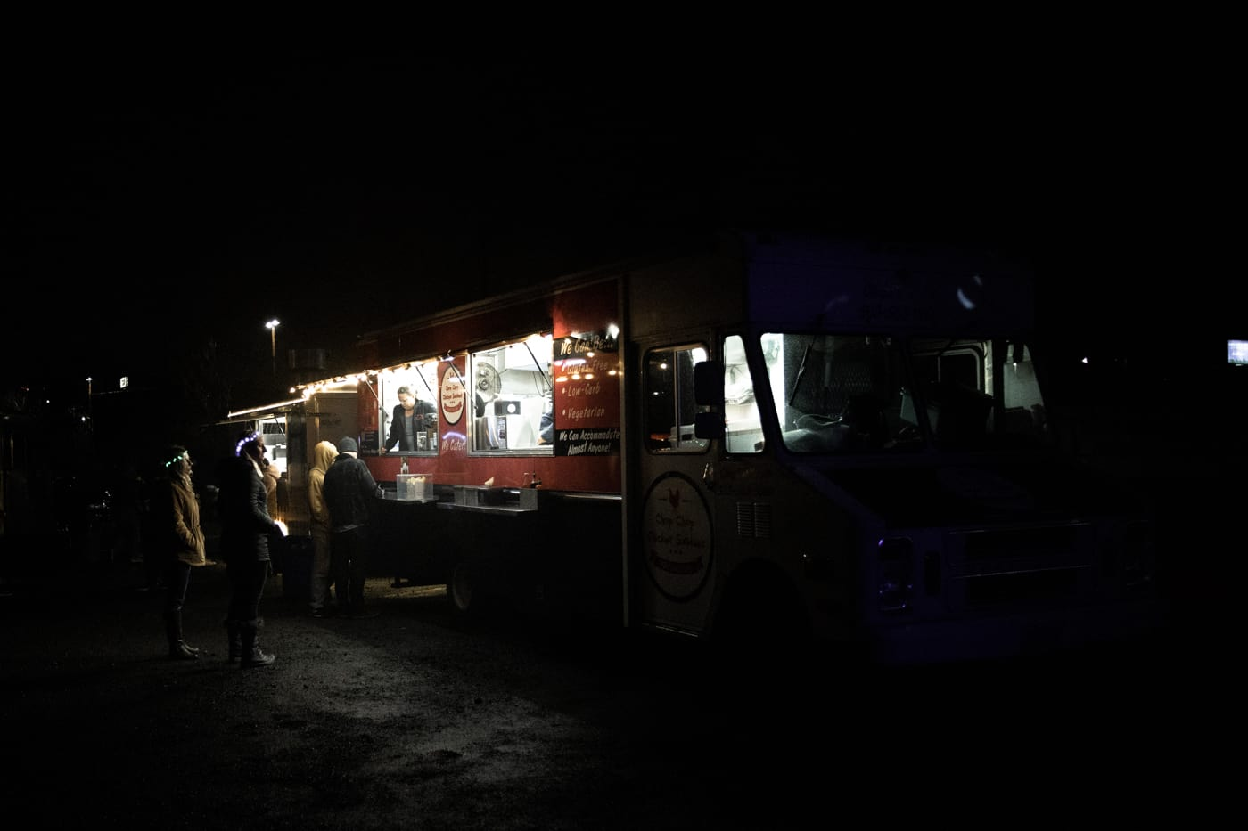 Food truck at Portland Winter Light Festival