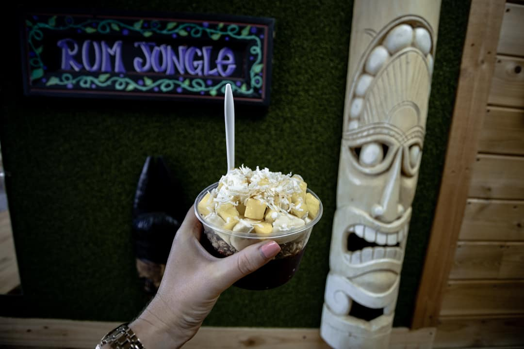 Rum Jungle Cafe acai bowl in San Diego California USA
