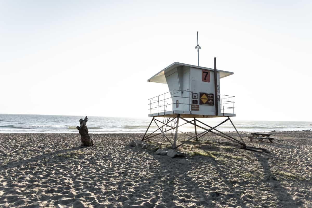 California beach in December
