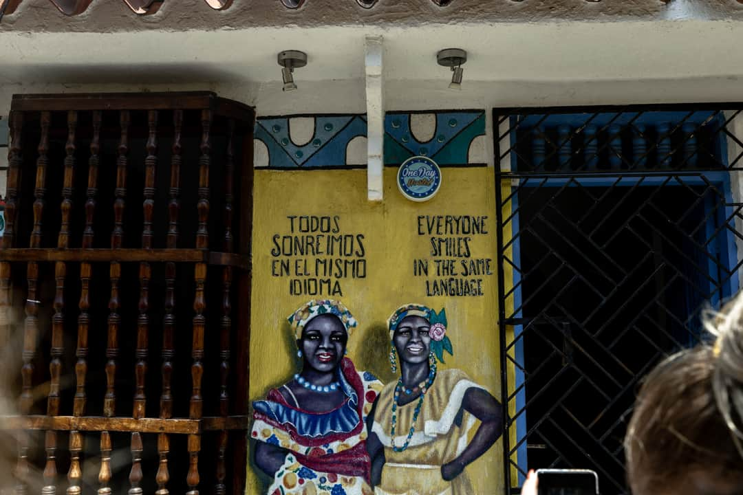 Mural in Cartagena Colombia