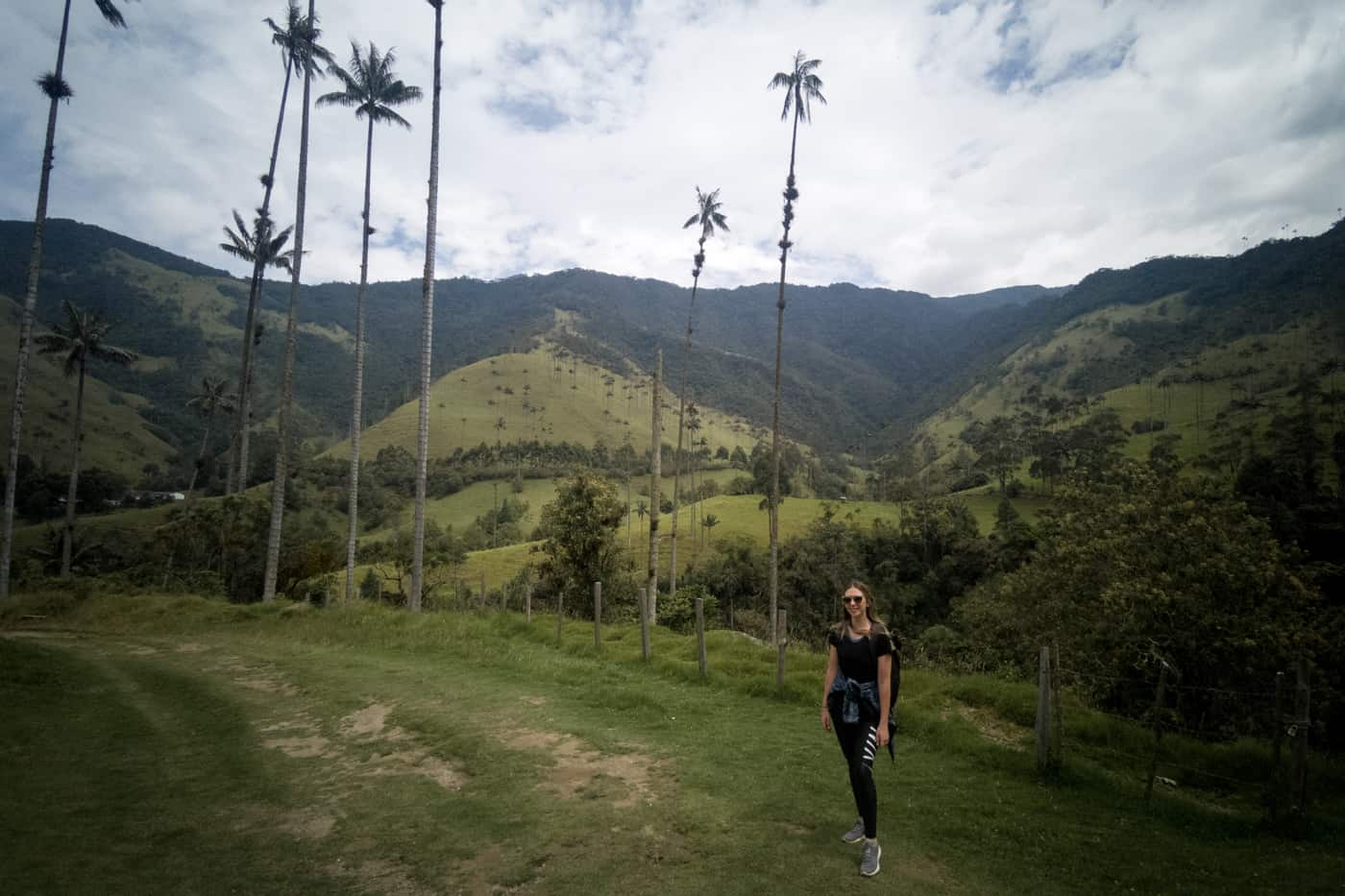 A solo female traveller at Colombia's Cocora Valley