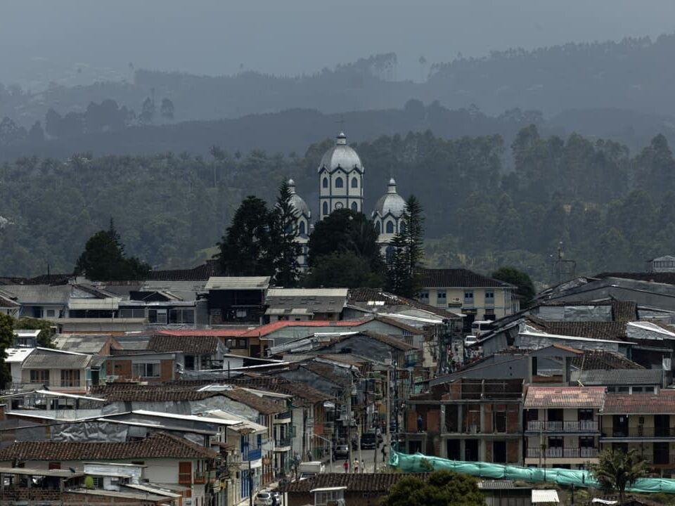 The main church in Filandia Colombia