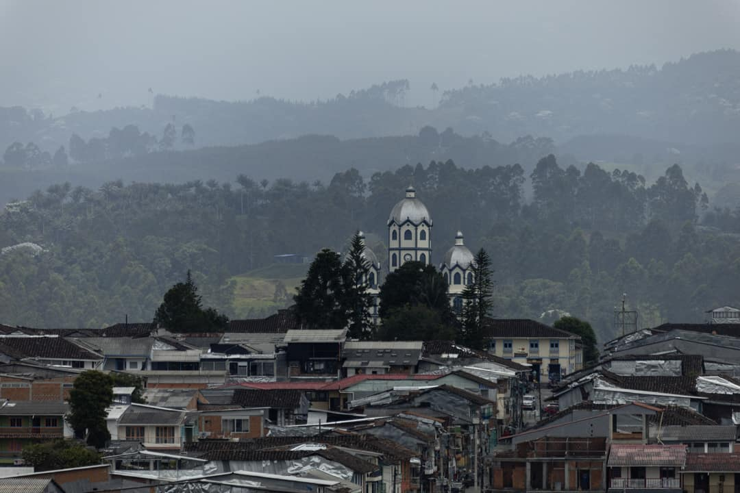 The town of Filandia in Quindio Colombia