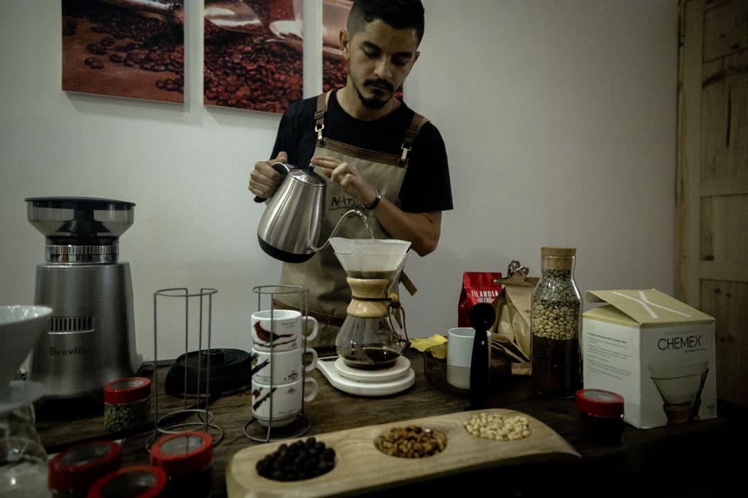 Authentic Colombian coffee in Filandia