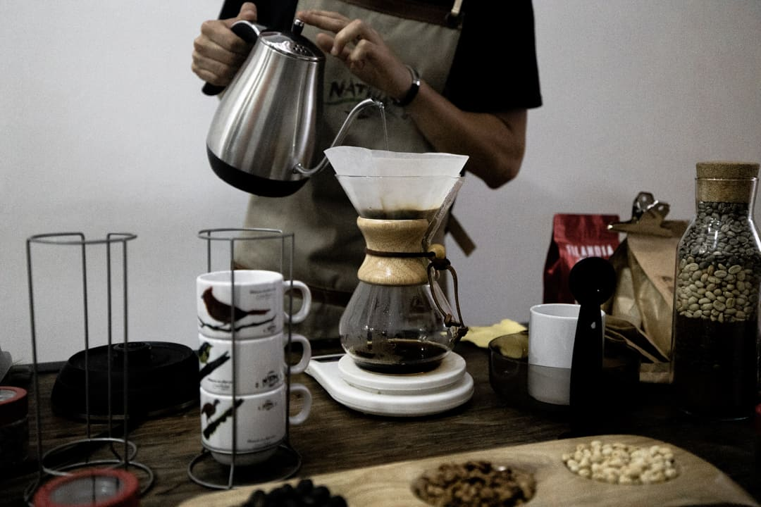 Filter coffee being made in Filandia Colombia