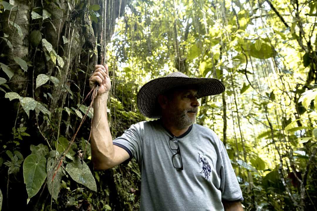 A farmer in Filandia, Colombia