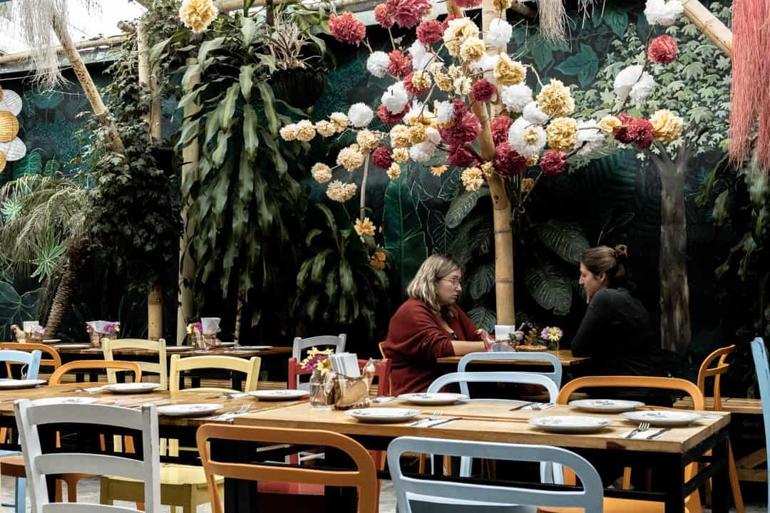 Inside Helena Adentro restaurant in Filandia Colombia