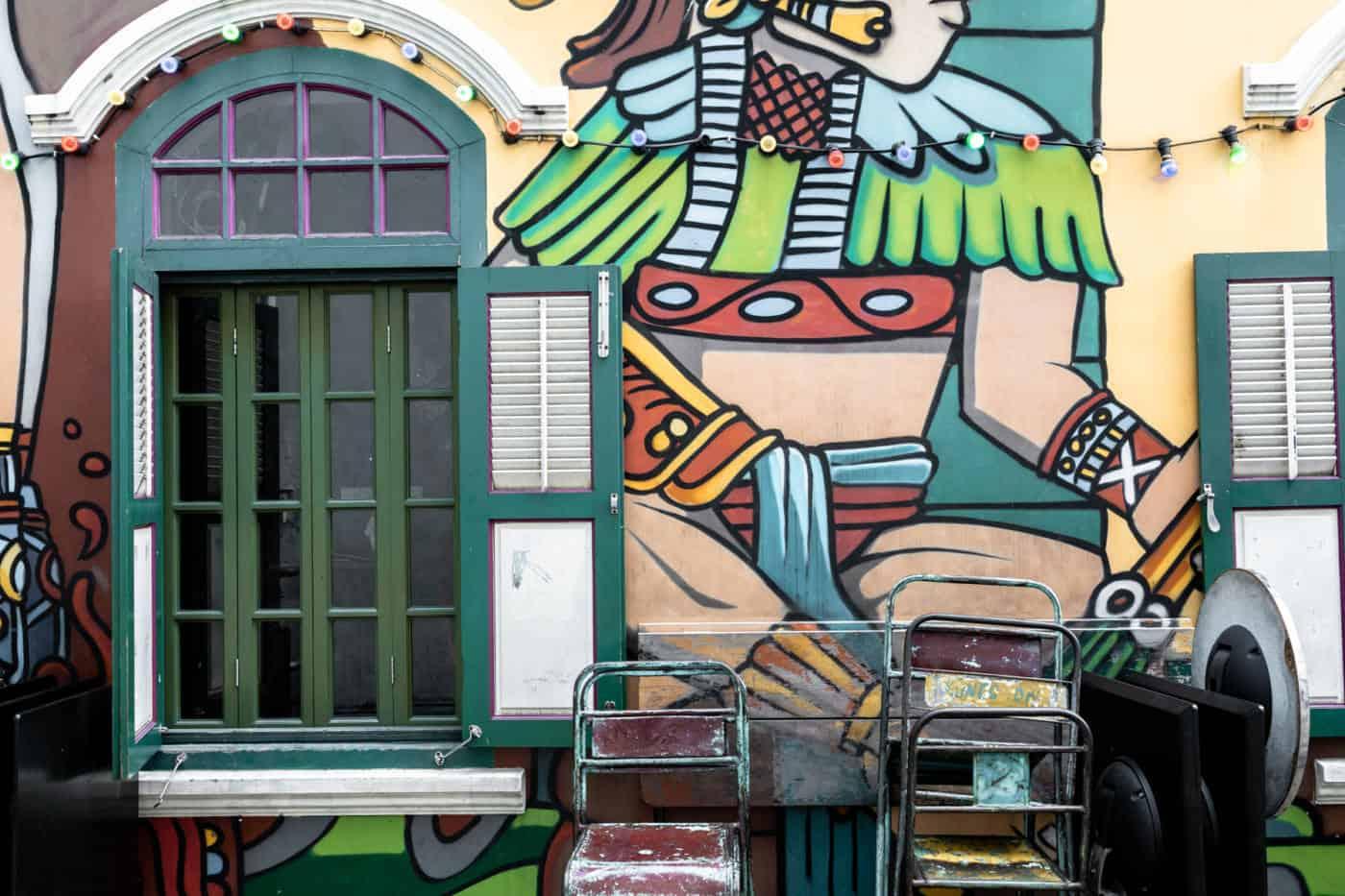 Wall murals in Haji Lane Singapore