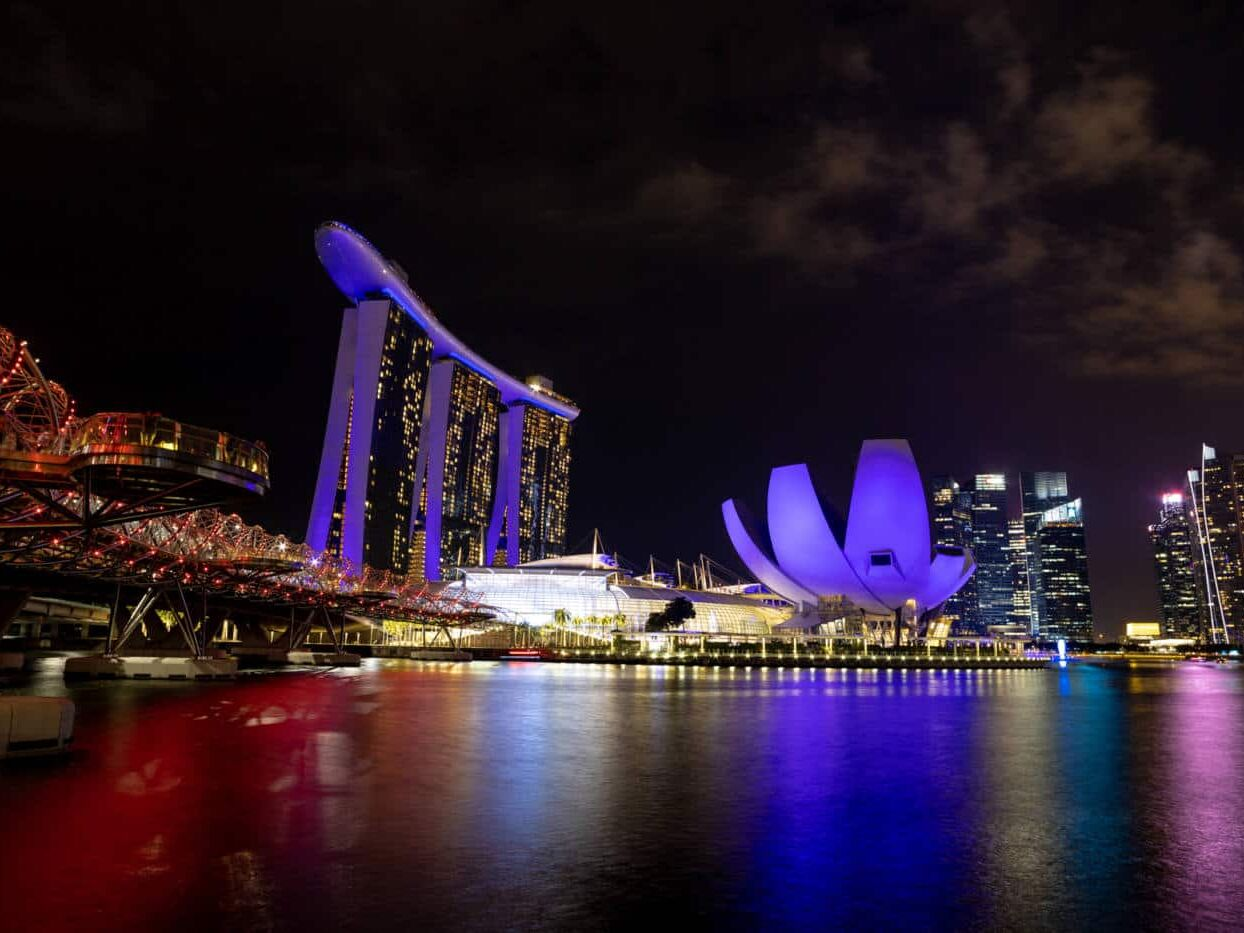 Marina Bay Light Show Singapore