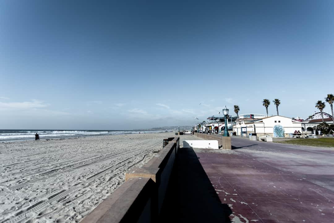 Mission Beach in San Diego California USA