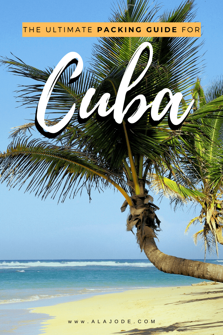 Packing guide for Cuba