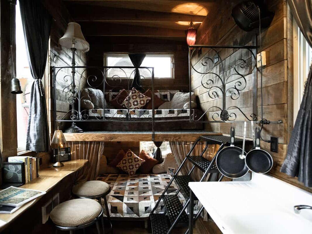 A Tiny home at Caravan Tiny House Hotel in Portland Oregon USA