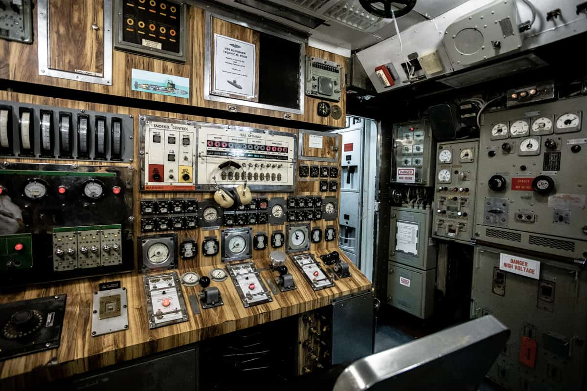 Inside a submarine at the OMSI Museum in Portland Oregon USA