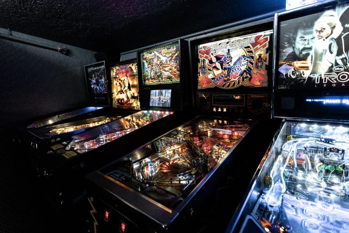 Old arcade machines at Ground Kontrol arcade in Portland Oregon USA