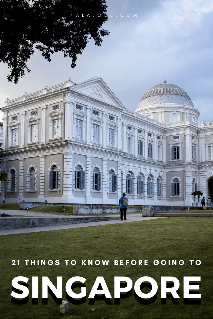 Things to know before going to Singapore