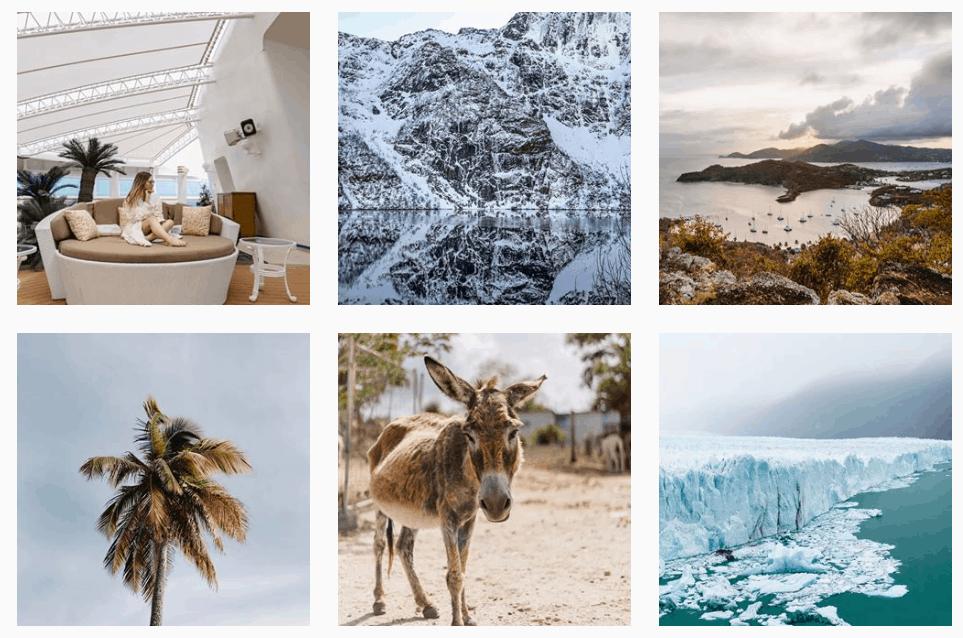 travel instagram feed