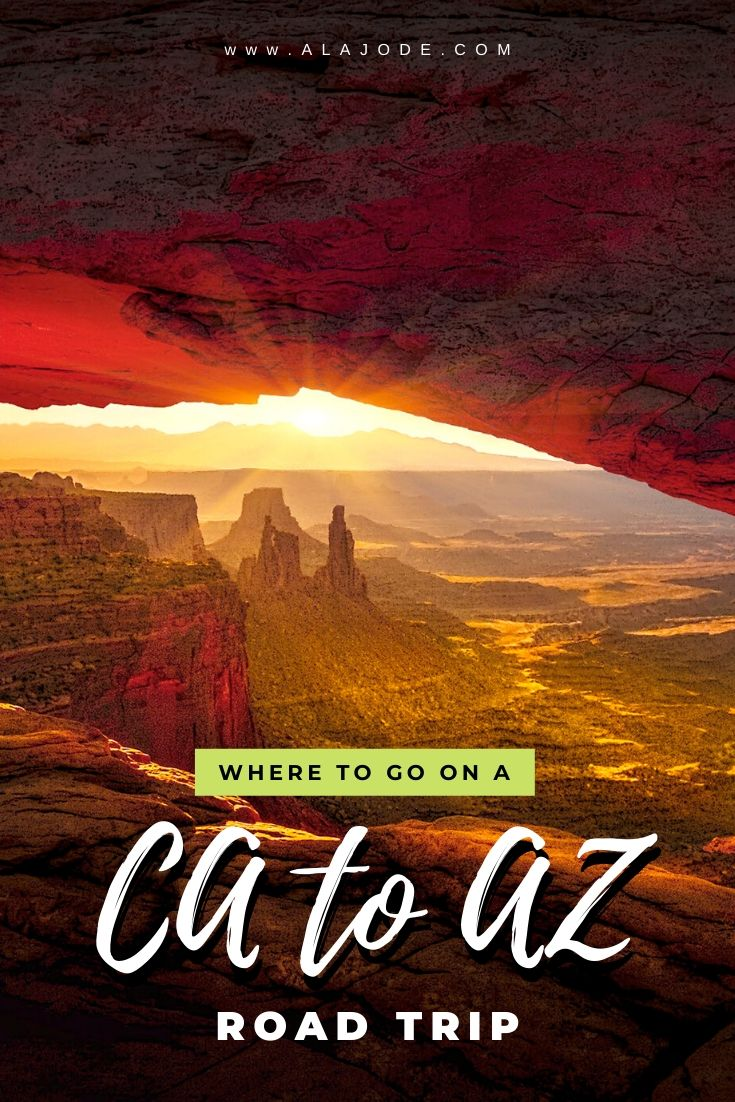 California to Arizona road trip