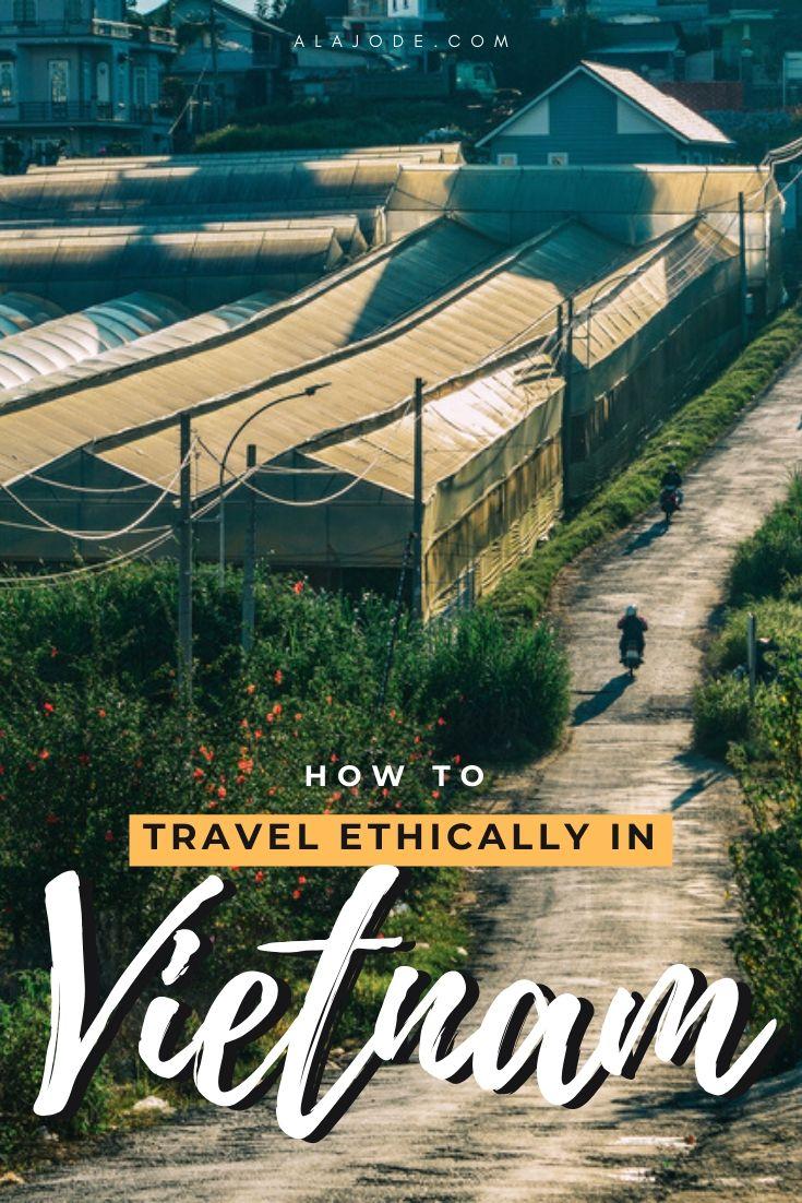 Pinterest image: Ethical travel in Vietnam