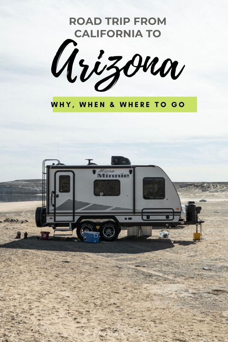 Road trip from California to Arizona