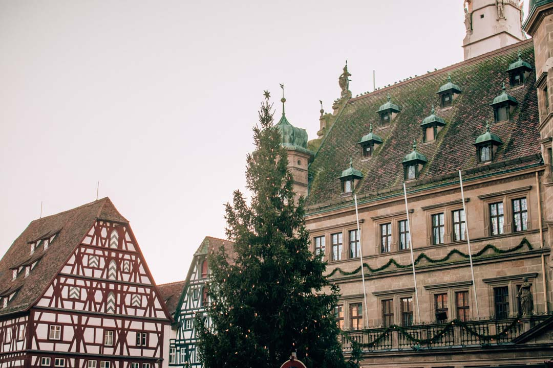 Rothenburg ob der Tauber Christmas market in Bavaria Germany