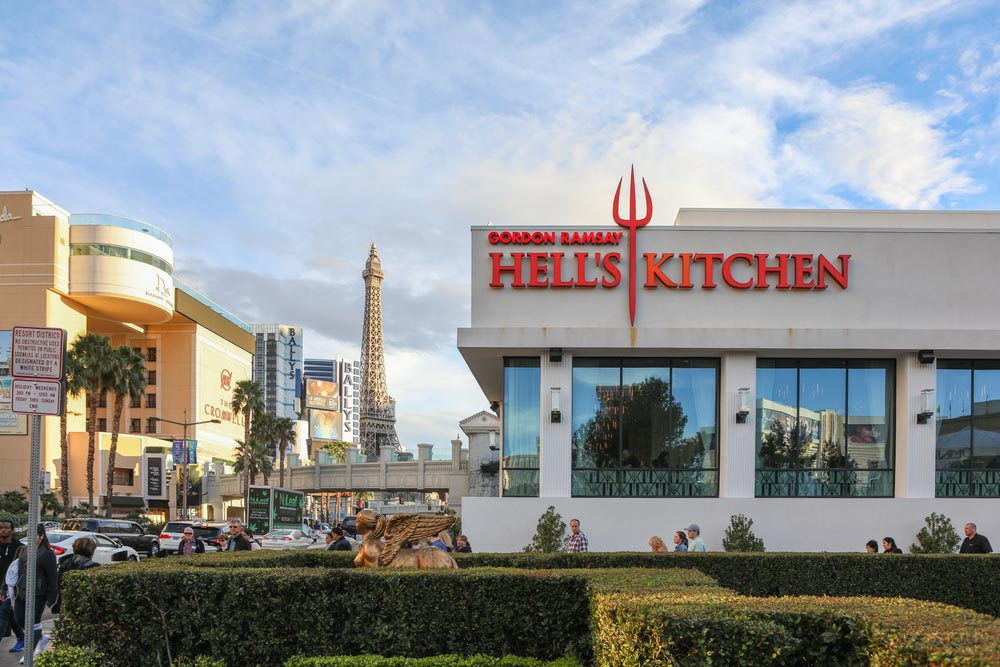 Gordon Ramsey Hell's Kitchen restaurant in Las Vegas Nevada USA