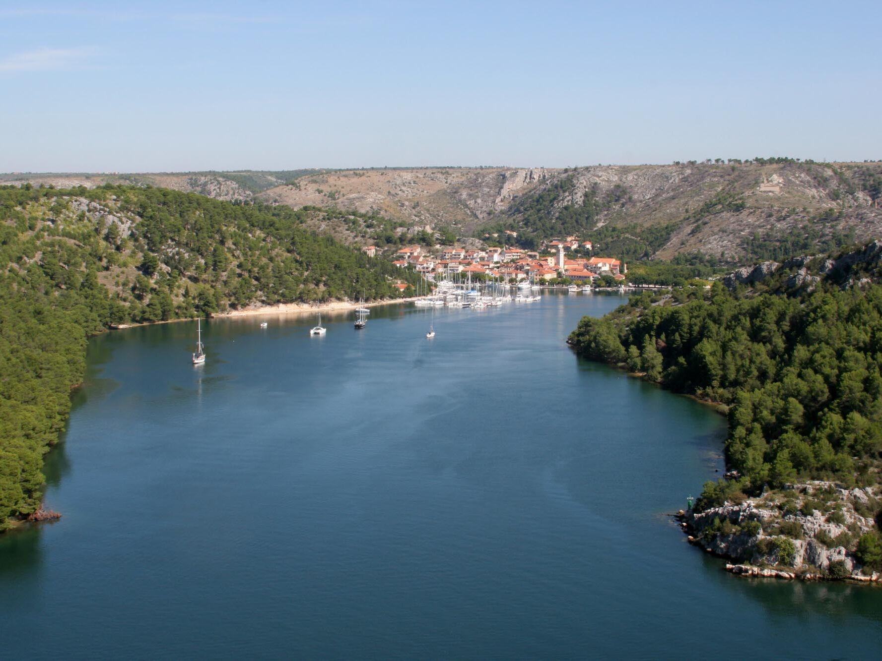 Krka National Park Skradin town Croatia